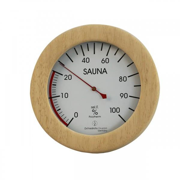Sauna Hygrometer im Holzrahmen DeLuxe