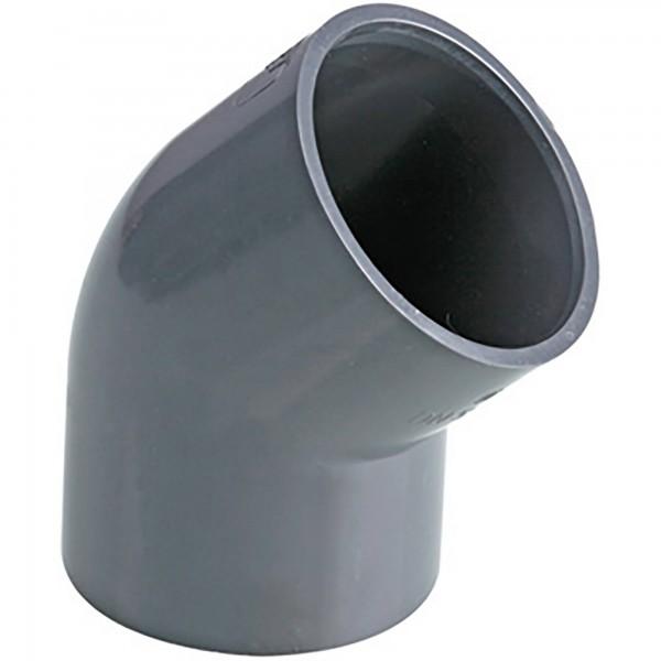 PVC-Winkel 45° Klebemuffe d = 50 Ø