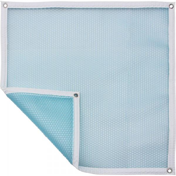 Luftpolsterabdeckung - blau/transluzent 500my, freie Form pro m², verschiedene Varianten