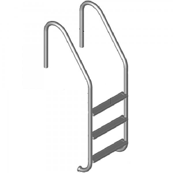 Edelstahl Tiefbeckenleiter weite Ausführung V4A 4-stufig