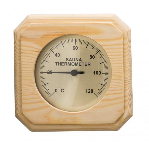 Sauna-Thermometer aus Nadelholz 12 x 12 cm