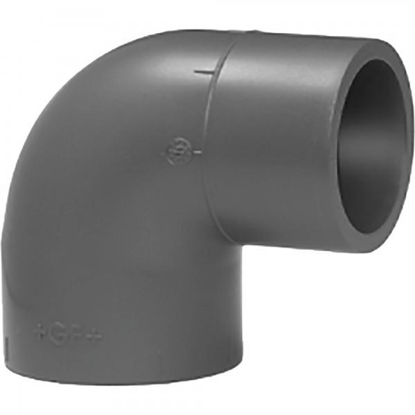 PVC-Winkel 90 ° Klebemuffe/-nippel d = 50 Ø