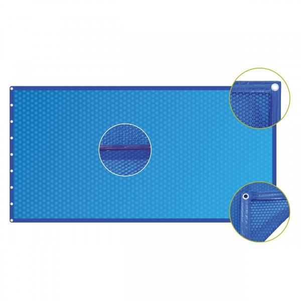 Luftpolsterabdeckung Ovalform 400µ mit Randverstärkung