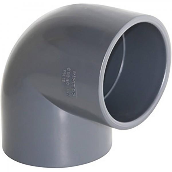 PVC-Winkel 90° Klebemuffen d = 50 Ø