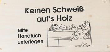 """Schilder """"Keinen Schweiß…"""" 340 X 190 X 10 Mm"""