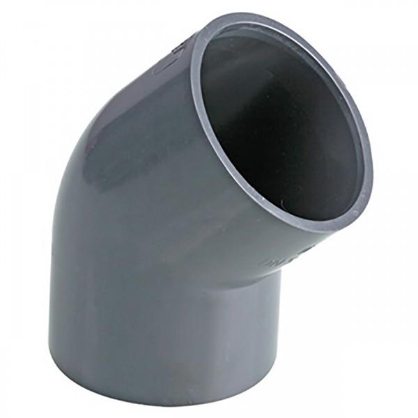 PVC-Winkel 45° Klebemuffe d = 40 Ø