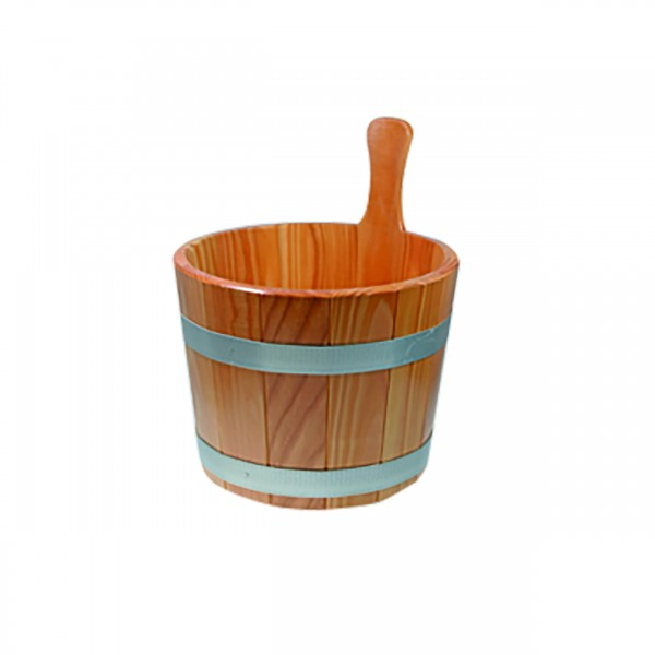 Aufgusskübel 5 l aus Lärchenholz mit Hygieneversiegelung
