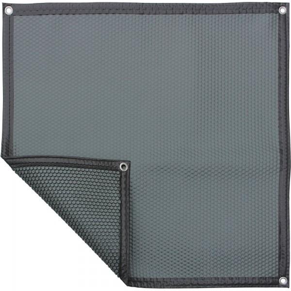 Luftpolsterabdeckung - grau/dunkel 500my, Treppenausschnitt pro m², verschiedene Varianten