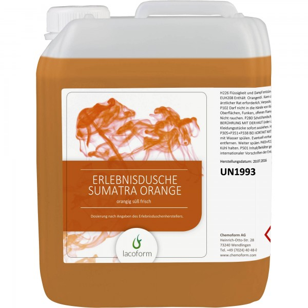 Unsere Erlebnisduschen-Düfte Sumatra Orange